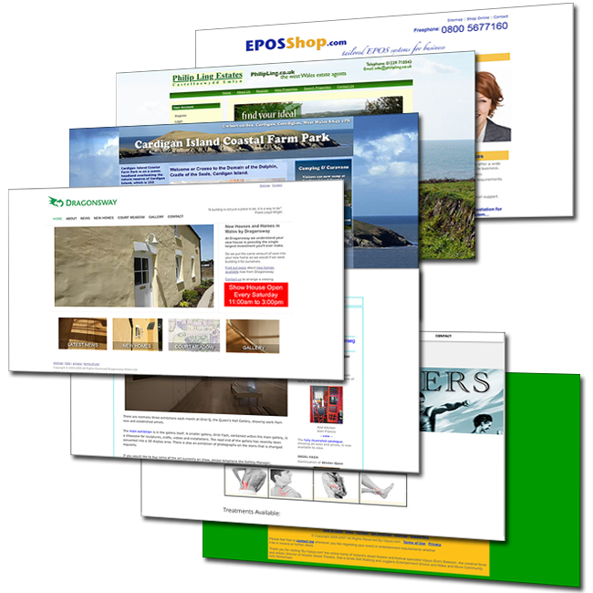 Website design examples by Tusler Design