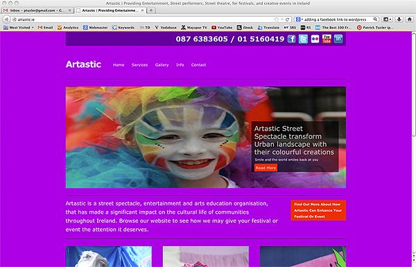 Artastic Ireland new website