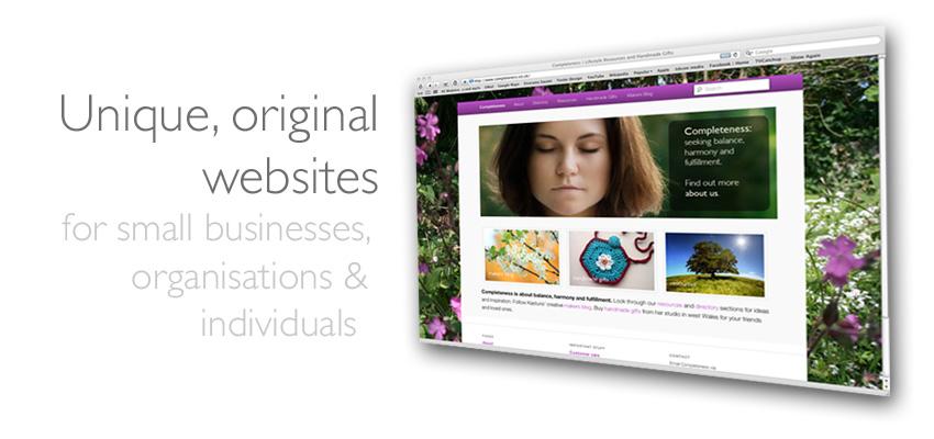 What we do - unique original websites