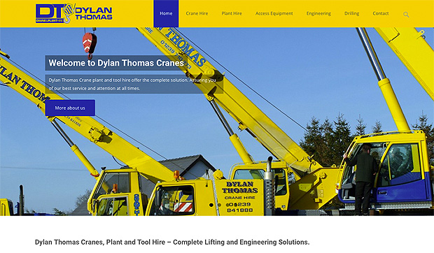 Dylan Thomas Cranes new website