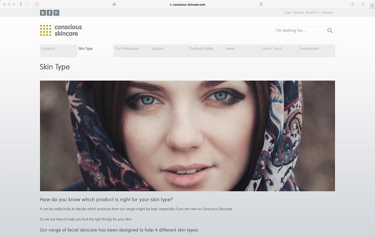 Conscious Skincare new website